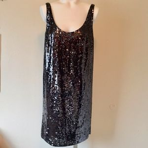 LAUNDRY BY DESIGN Sequin Shift Dress